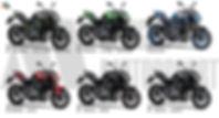 muestra de z900 colores en paleta para f