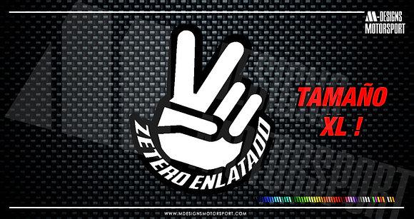 Adhesivo ZETERO ENLATADO / 2 colores / 13'8cm de alto XL