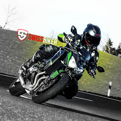 Sticker swiss biker Kawasaki z800