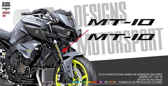 Adhesivos para barras delanteras MT-10 diseño nº1