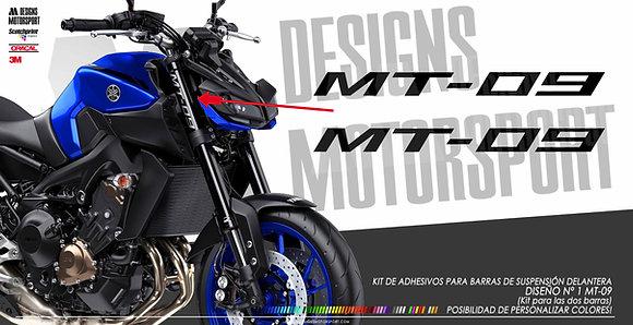Adhesivos para barras delanteras MT-09 diseño nº1