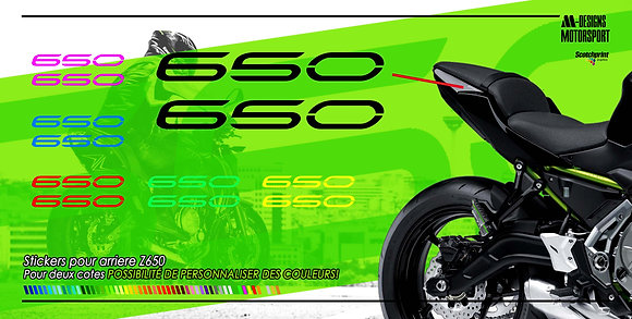 Stickers pour arriere z650
