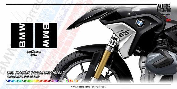 Sticker kit nº 2 para barras delanteras R1250GS