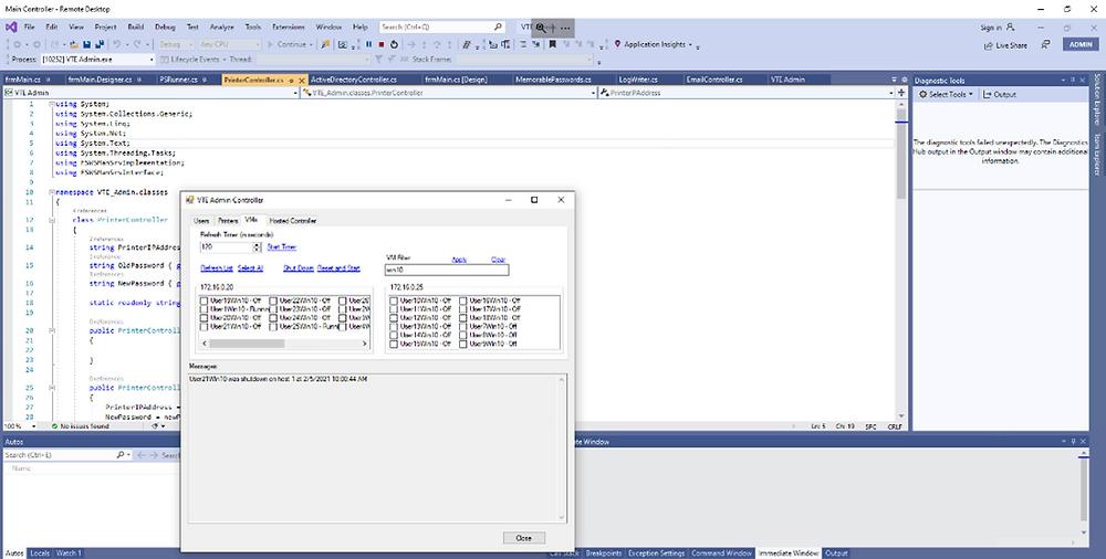 Intracon VTE Admin Console