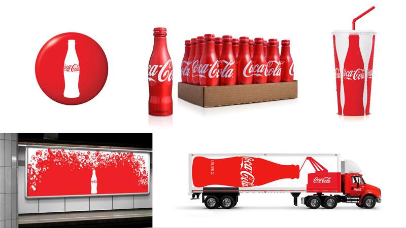 coca cola brand identity visual branding