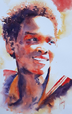 Jeune homme souriant