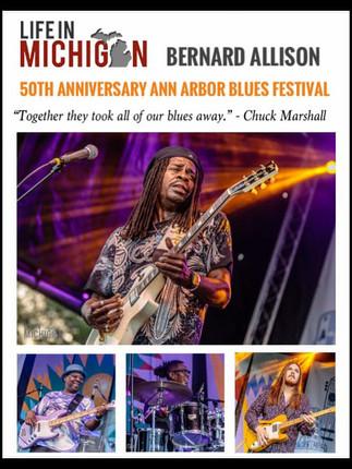 Bernard Allison Performing at the 50th Anniversary Ann Arbor Blues Festival