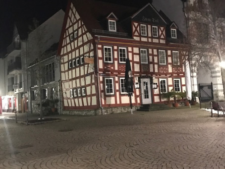 Idstein Germany!  The guys gettin' ready for tomorrow nights show at Die Scheuer!