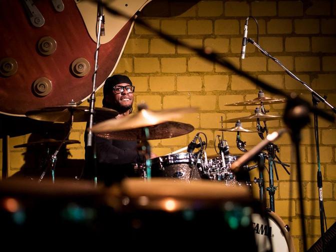 """Super Mario Dawson Keeping """"Time"""" for the Bernard Allison Group on their 2017 European Tou"""