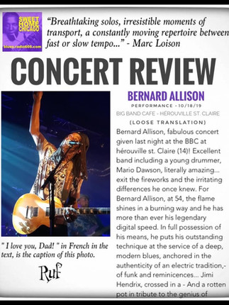 Concert Review: Bernard Allison