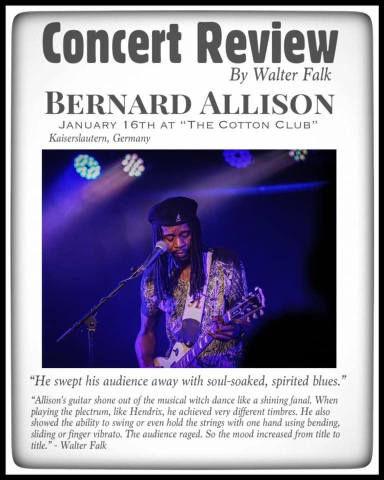 Bernard Allison Concert Review at The Cotton Club