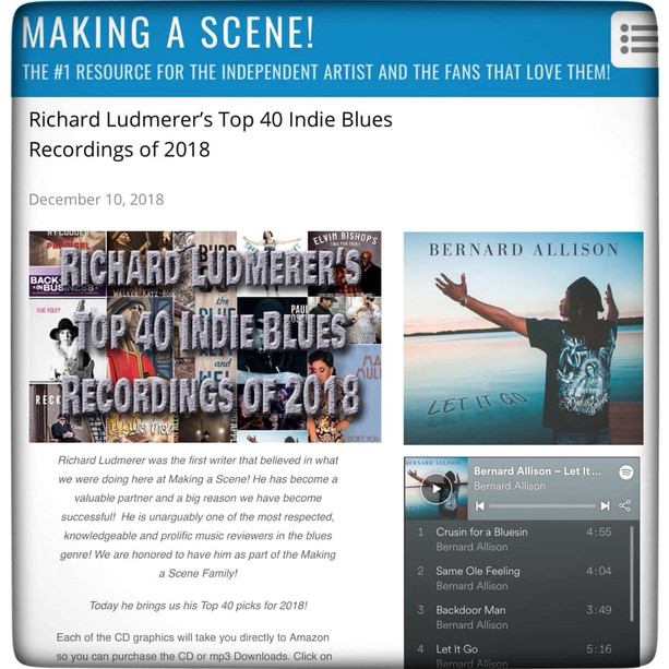 """LET IT GO"" Top 40 Indie Blues Recordings of 2018 -Making A Scene"