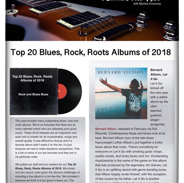 """Let It Go"" Top 20 Blues, Rock, Roots albums of 2018. - Rock And Blues Muse"