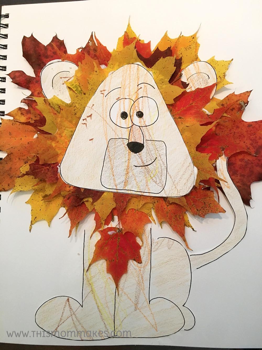 Finished Leafy Lion