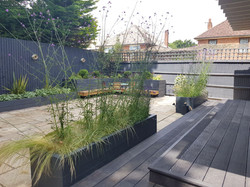 Decking, patio and fencing