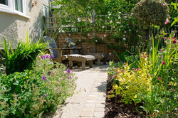 Refreshed planting and path