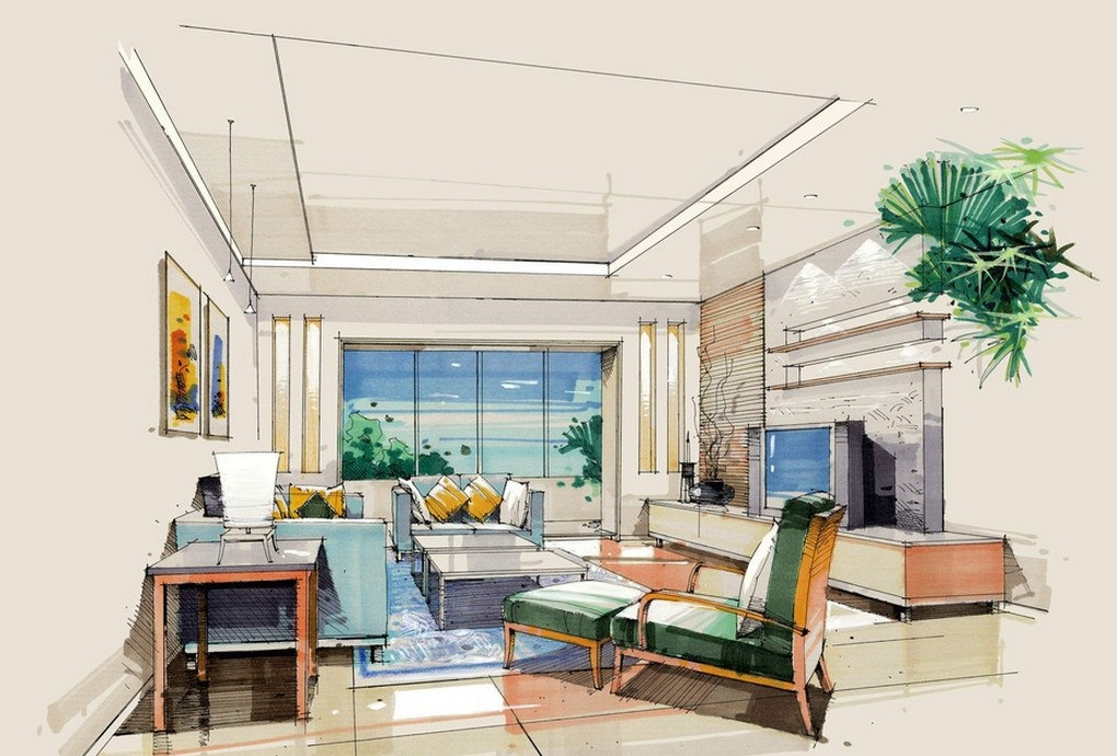amazing-interior-design-sketches-living-room-room-interior-sketch