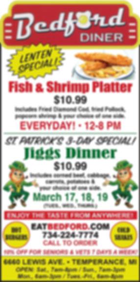 Bedford Diner Fish & Jiggs Dinner  Ad (1