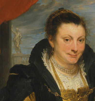 Anthony Van Dyck, Portrait of Isabella Brant, oil on canvas, c1620 (detail)