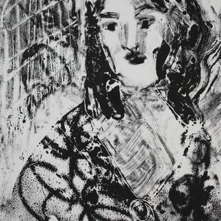 Young Caroline Liardet small monoprint.J