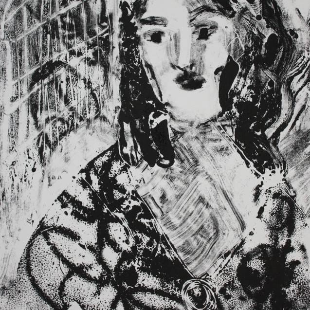 Young Caroline Liardet small monoprint.J