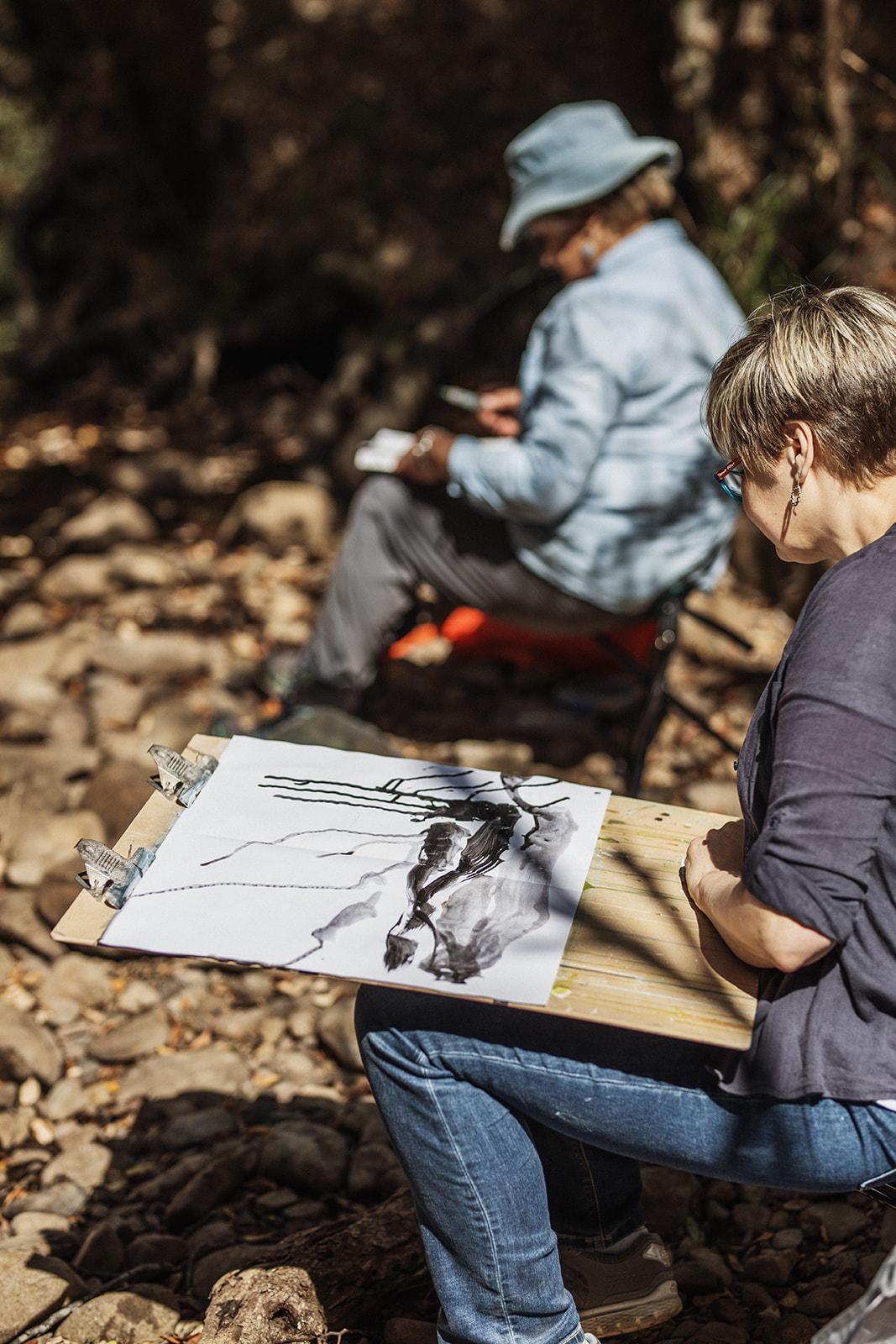 FATA20 LS-315 painting at creek