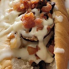 Bacon Mushroom Swiss Dog