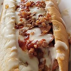 Pepperoni Bacon Pizza Dog
