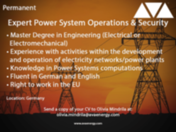 Expert Power systems engineering job vacancy based in germany