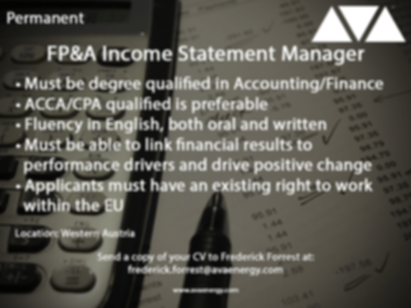 FPA Income Statement Manager job based in Austria