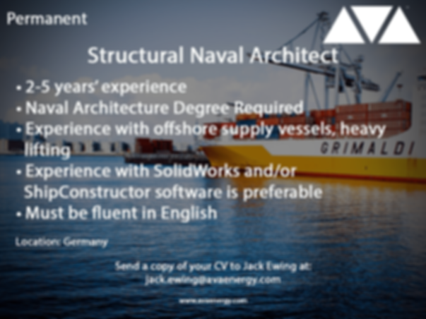 Structural Naval Architect job vacancy based in Germany
