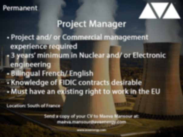 Project Manager nuclear job based in the south of france