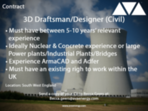 3D draftsman nuclear job vacancy based in South West England