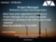 Project Manager wind power job based in the gulf