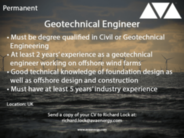 geotechnical engineer offshore wind job vacancy based in the UK