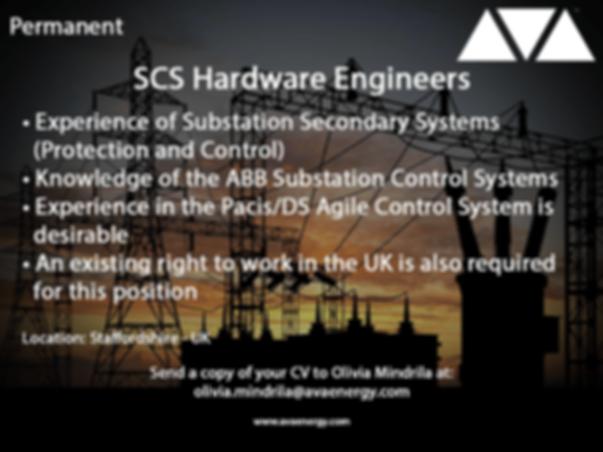 SCS Hardware Engineering job vacancy based in staffordshire, UK