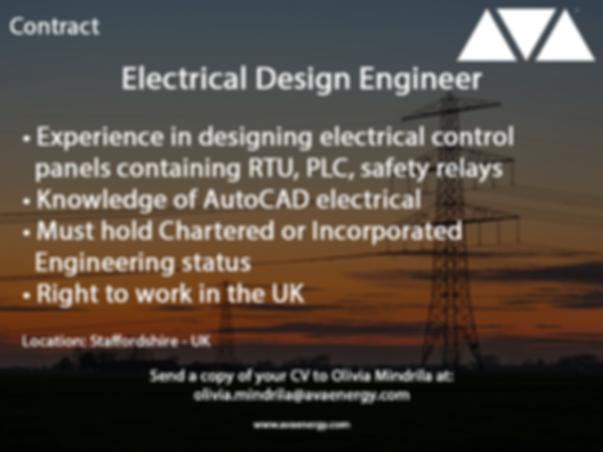 Electrical Design engineer job vacancy based in staffordshire, UK
