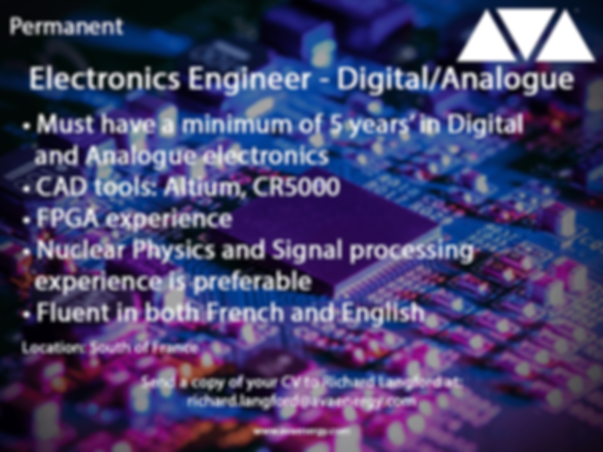 Electronics Engineering job vacancy based in the South of France
