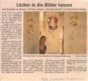 Sara Buschulte - Ausstellung im Torhaus Rombergpark