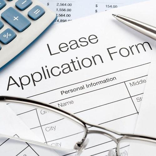 Lease Application Fee