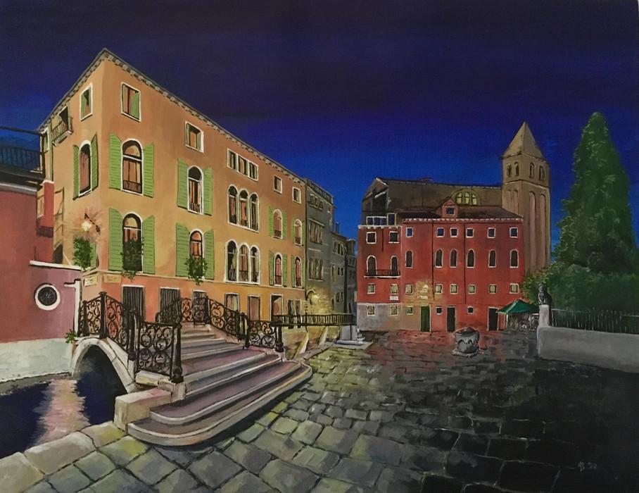 'Venice,' Acrylic on Canvas
