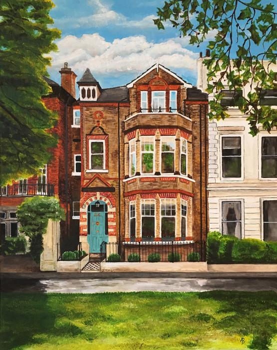 'London House,' Acrylic on Canvas