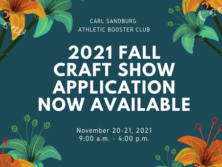 2021 Fall Craft Show Application NOW Available