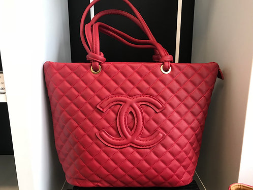 Chanel Quilted Tote w/ Matching Wallet