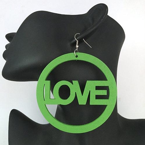 Love (Wood Earrings)