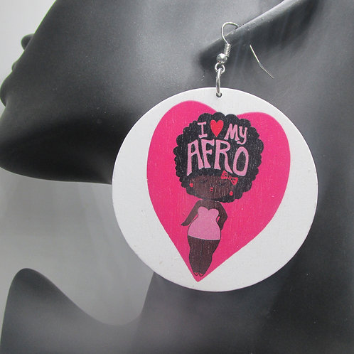 68 - I Love My Fro (Pink Heart)