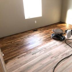 Stain and Sander on Oak Floors