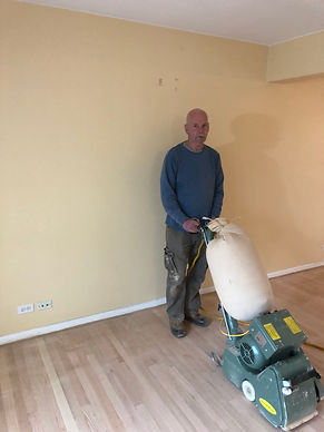 Jay from Jay's Hardwood Floors Inc. with Hummel Belt Sander Wheaton, Illinois