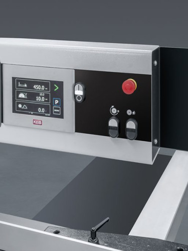 Overhead numerical touchscreen control panel for 3 axis controls