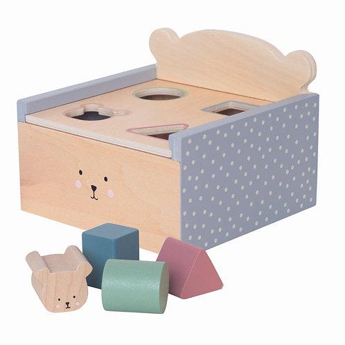Caja de madera con piezas encajables